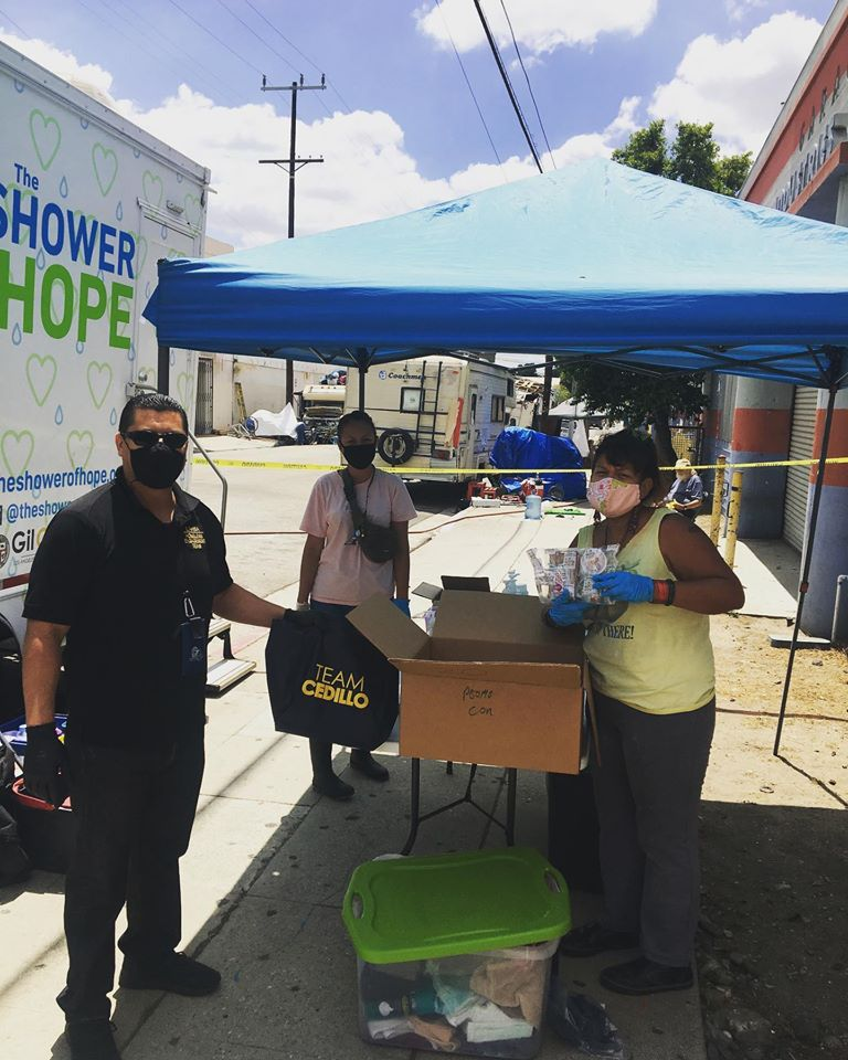 LAHSA Outreach at Shower of Hope in Lincoln Heights 5-13-2020