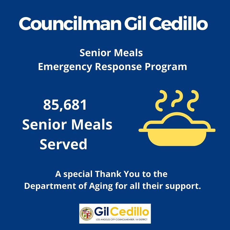 85,631 Senior Meals in CD 1 as of May 20, 2020
