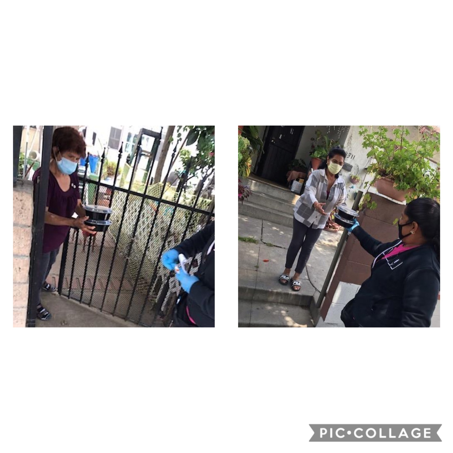 Accion Comunitaria and Tierra Caliente Restaurant, delivered dozens of hot meals to seniors in Cypress Park 5-20-2020 COLLAGE