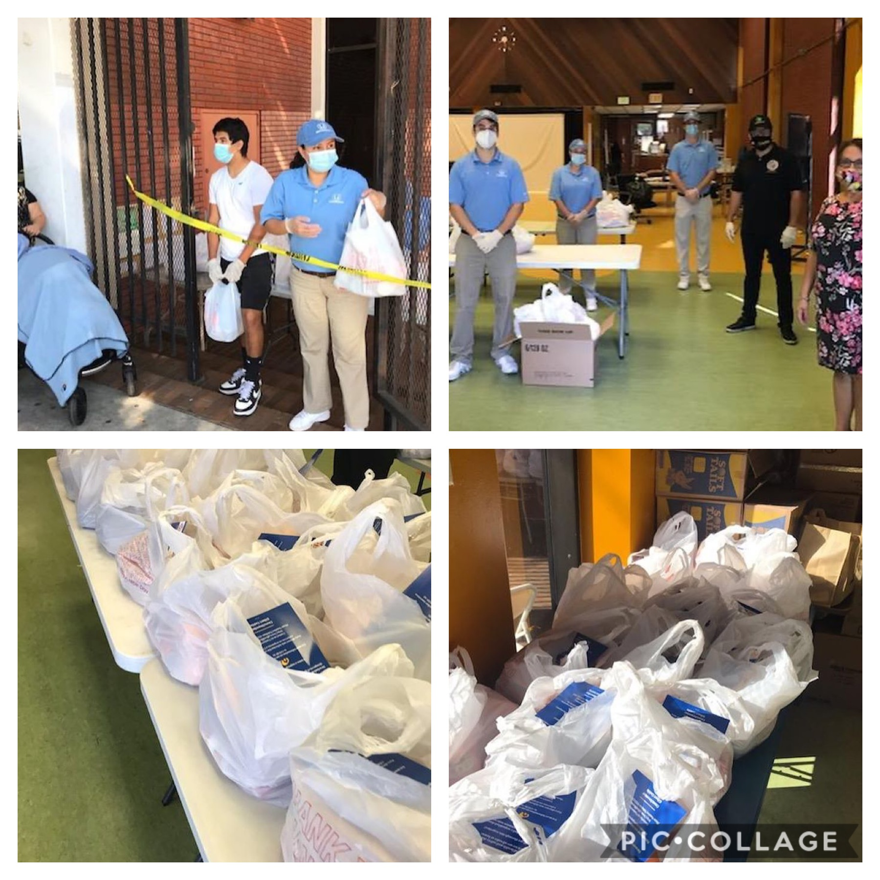 CCNP distributed bags of groceries in Westlake & special thanks to Honda's Random Acts of Kindness Team 5-21-2020 COLLAGE