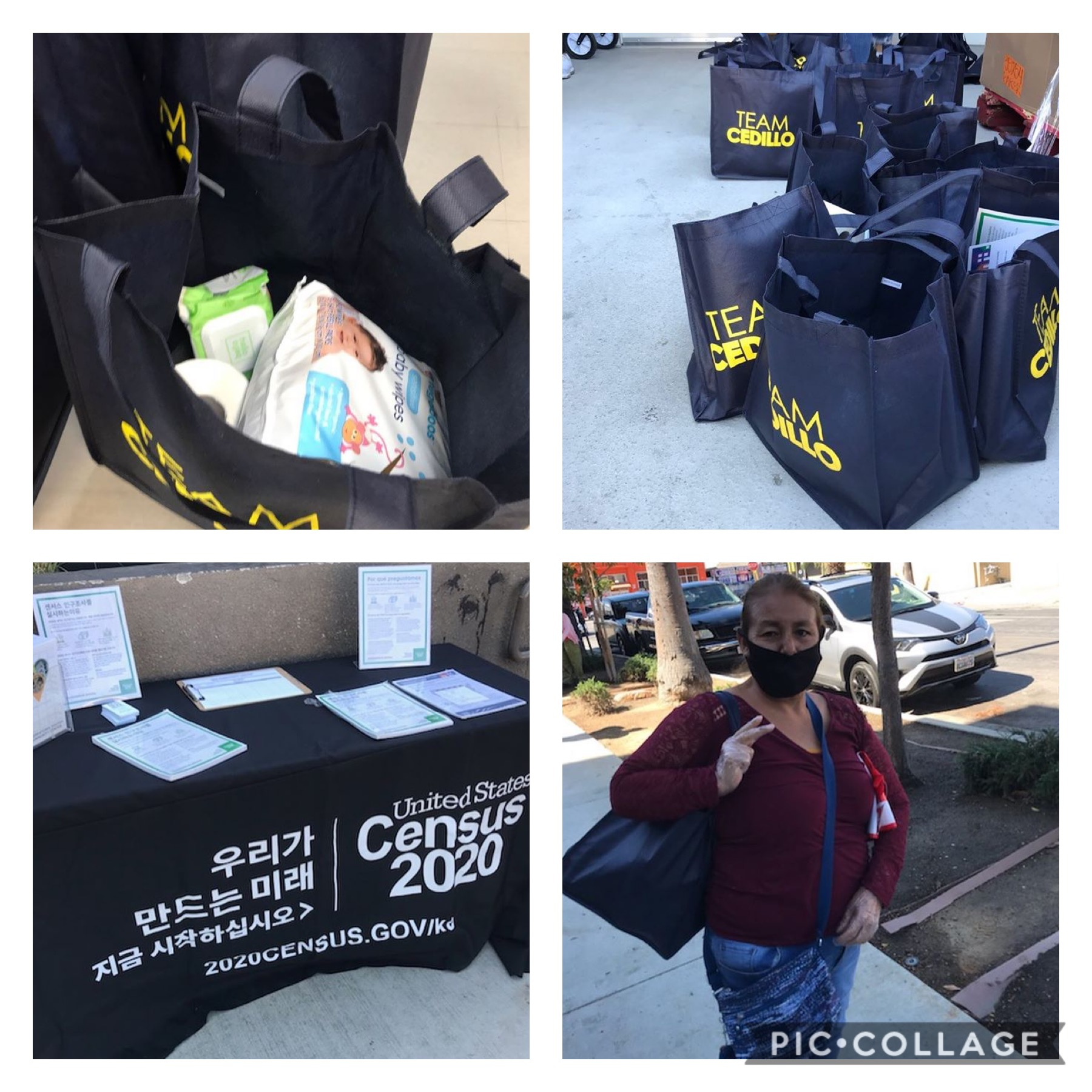 KYCC, Seeds of Hope and Olympic Neighborhood Watch, groceries to families in Koreatown&Pico Union 5-20-2020 COLLAGE