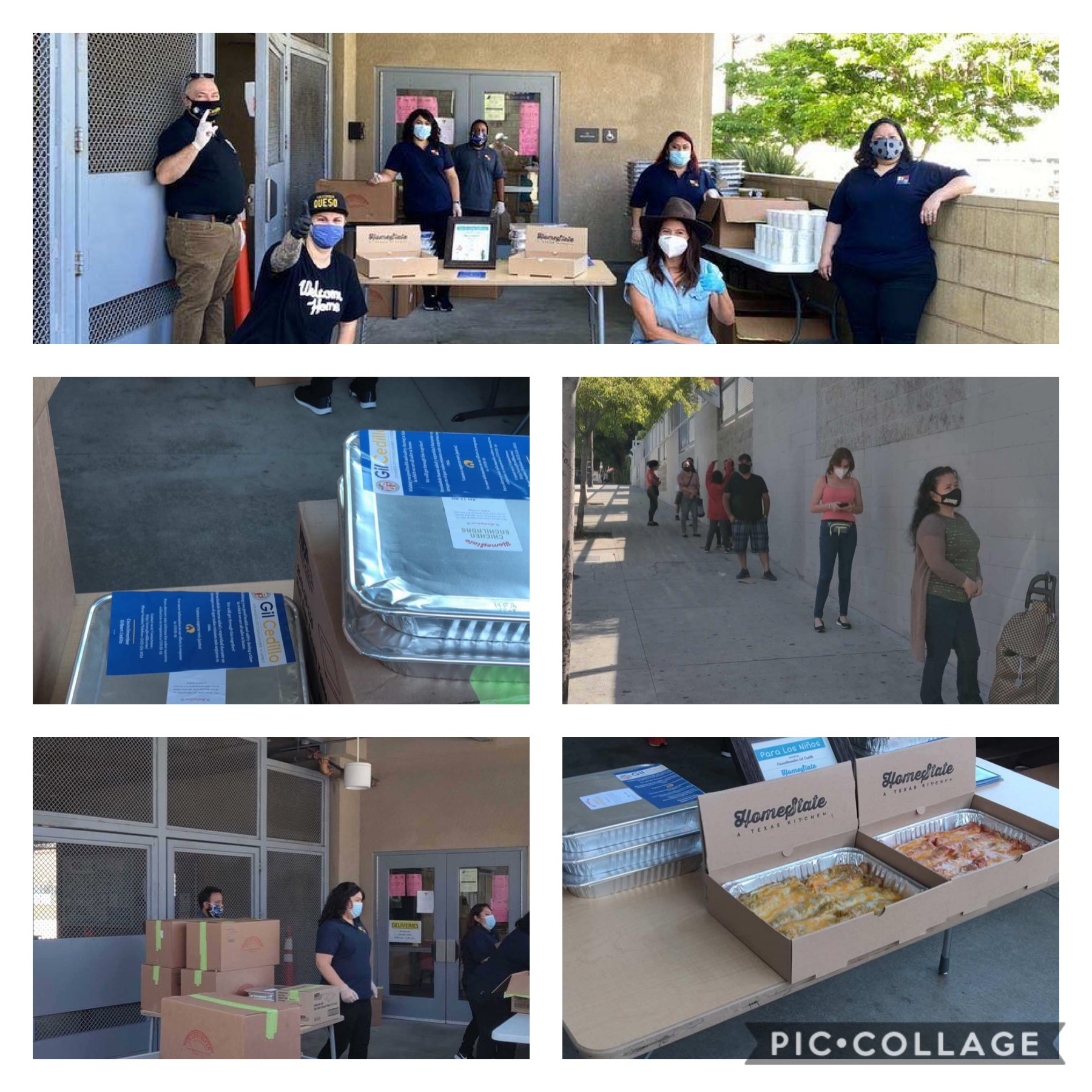 Para Los Ninos Distributed Meals Provided by Homestate 5-15-2020 COLLAGE