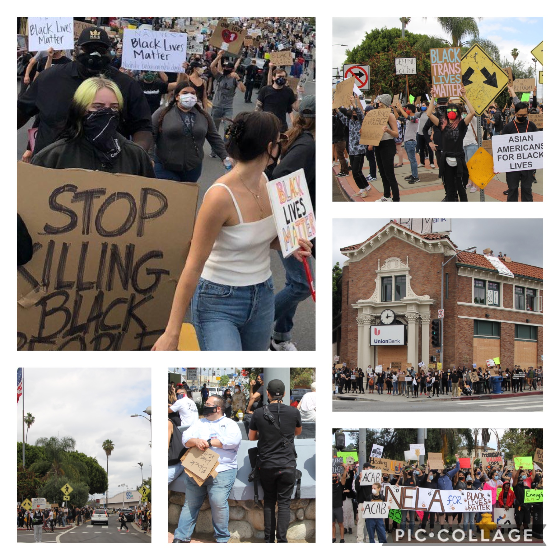 Black Lives Matter Highland Park March 6-6-2020 COLLAGE 1