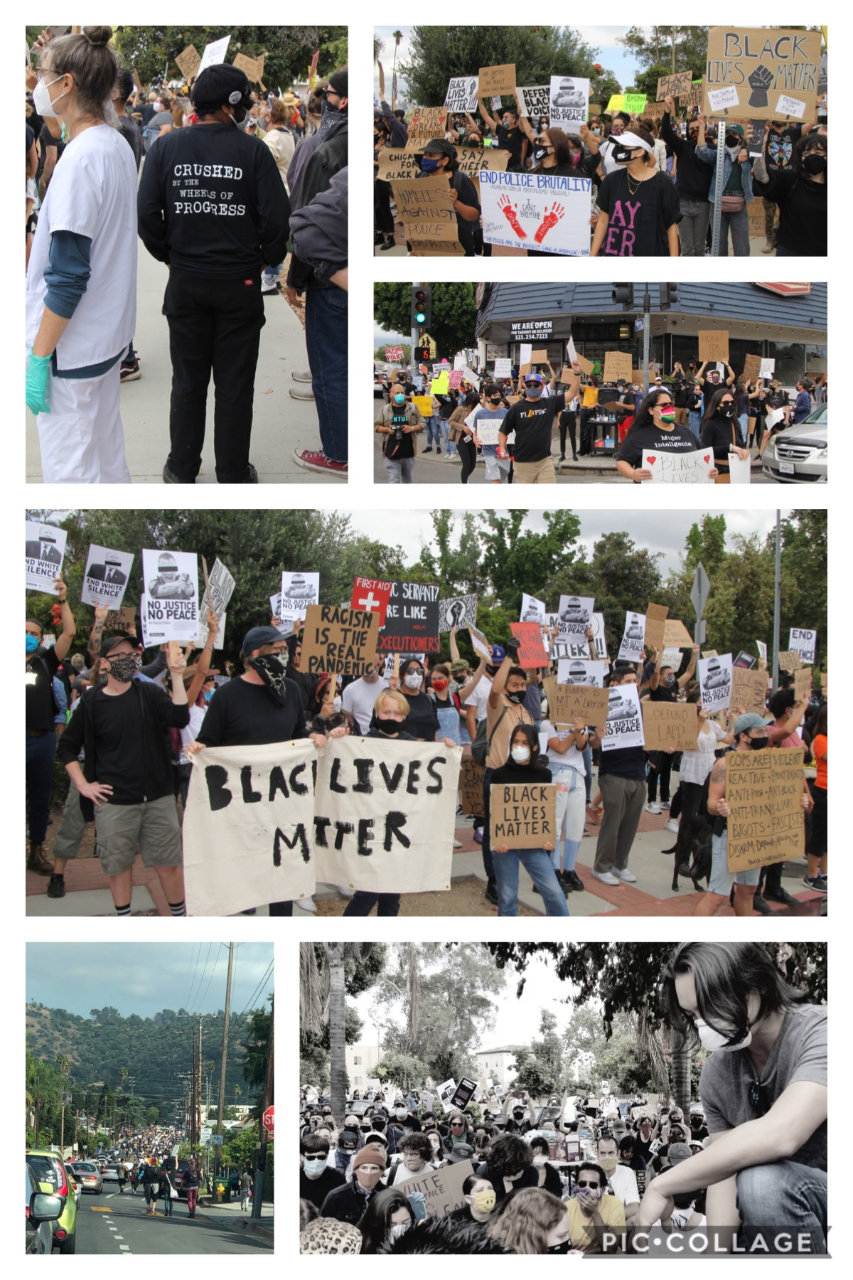 Black Lives Matter Highland Park March 6-6-2020 COLLAGE 2