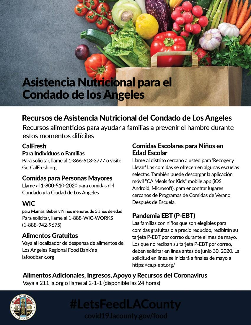 Nutrition Assistance for LA County SPANISH