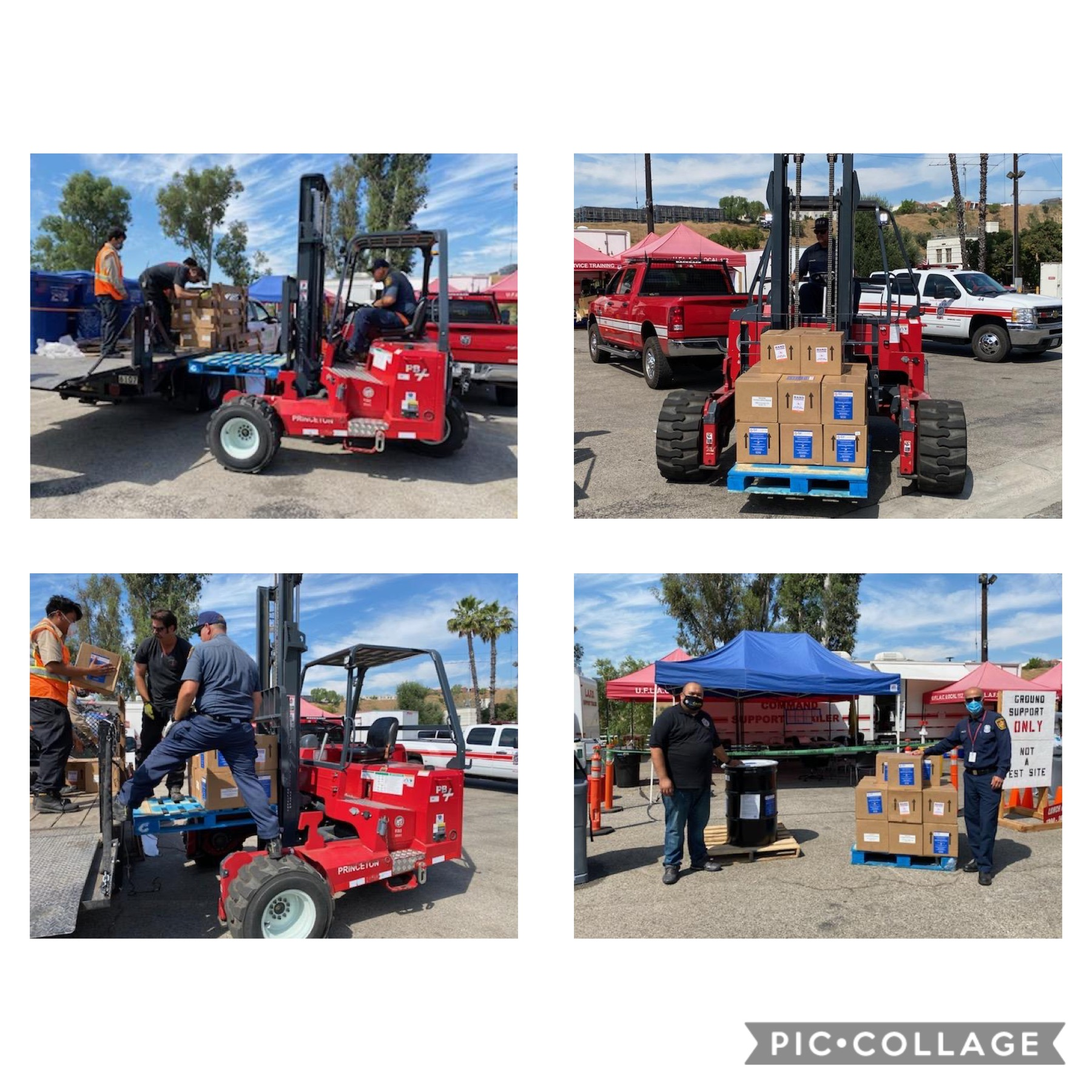140 Gallons Hand Sanitizer Delivered to LAFD 6-12-2020 COLLAGE