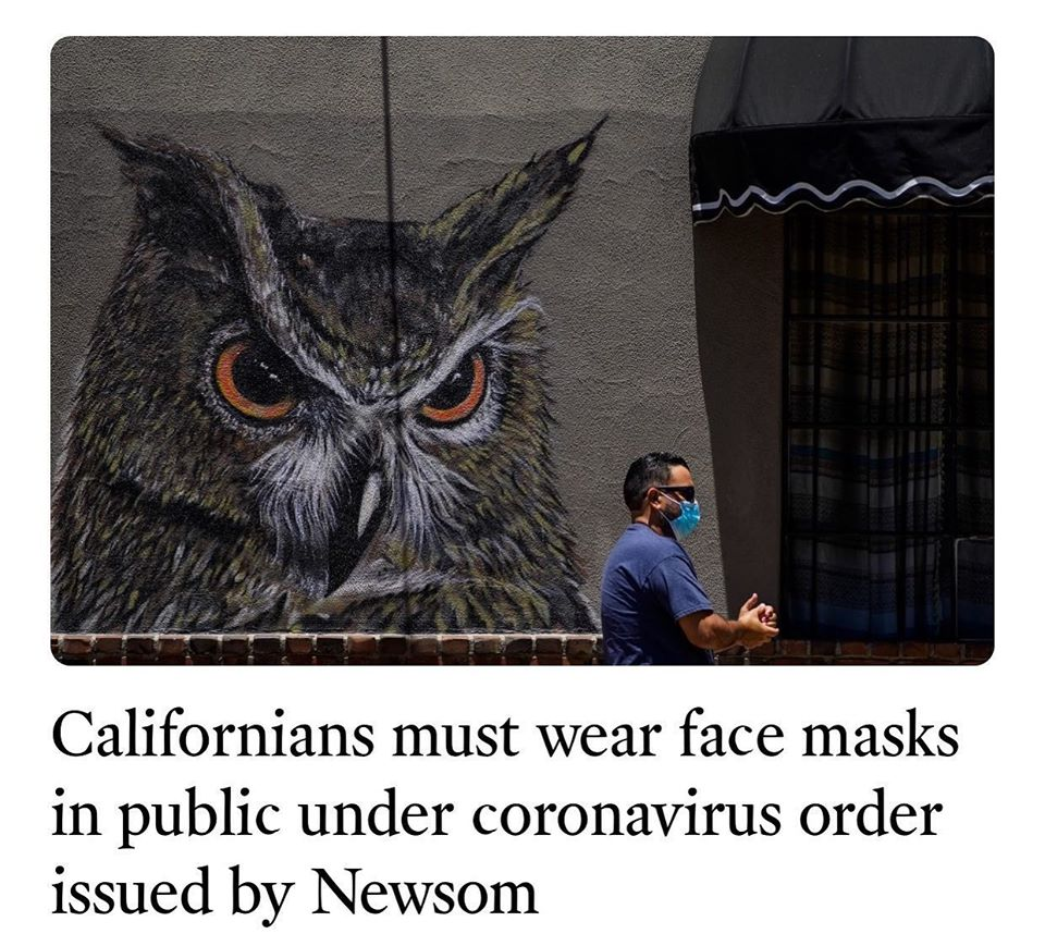 California Must Wear Face Masks - Governor Newsom Order