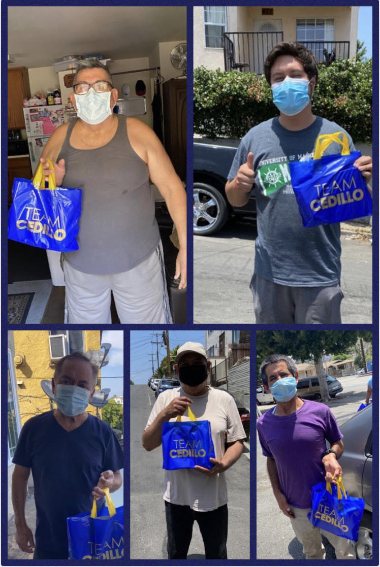 Temple-Beaudry,  Angelino Heights, Solano Canyon and Cypress Park Receive Father's Day Bags 6-18-2020 COLLAGE