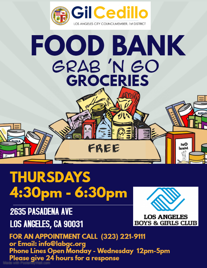 Updated CD1 LABGC Food Distribution - COVID19 THURSDAYS