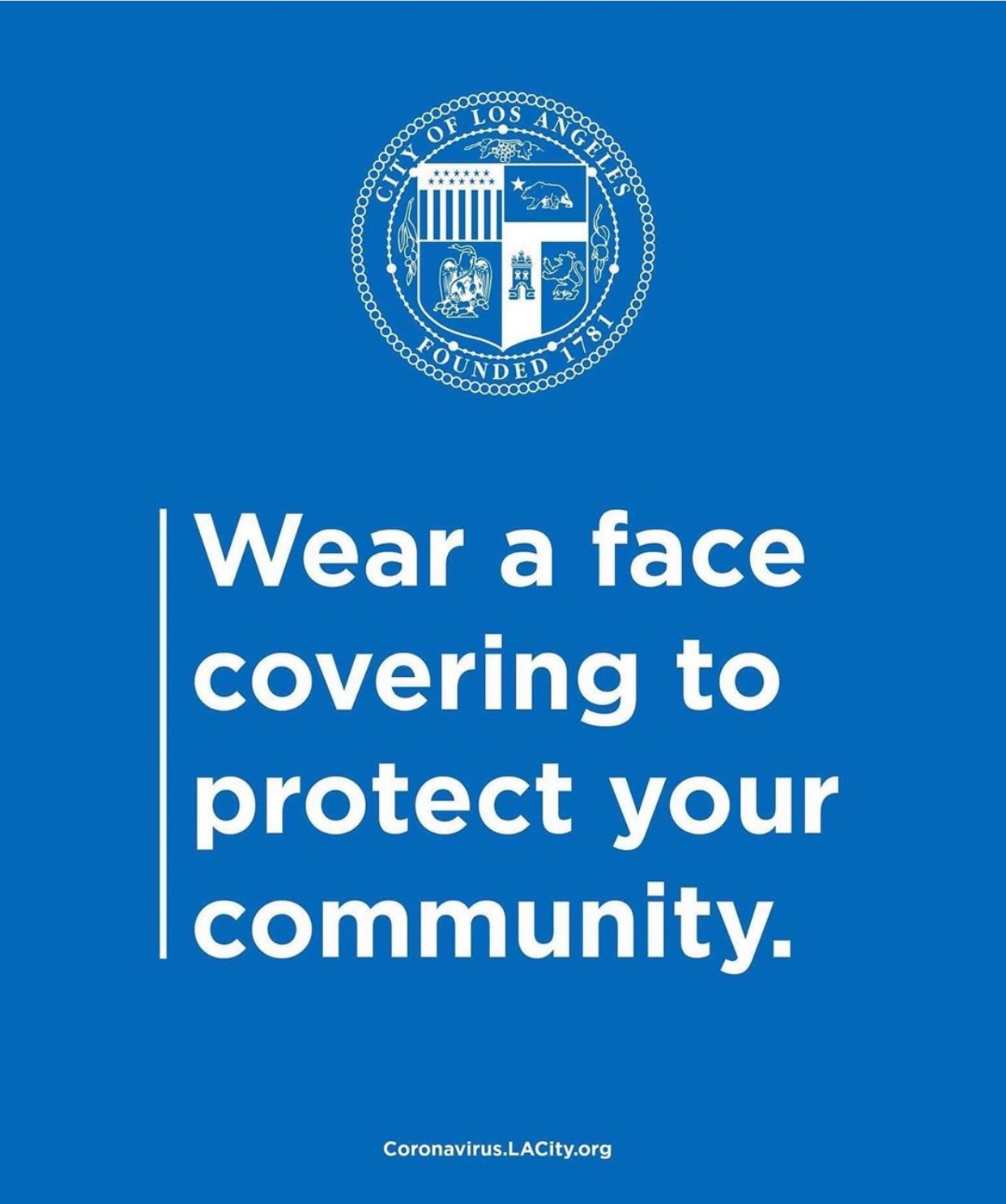 Wear a Face Covering to Protect Your Community ENGLISH 6-19-2020