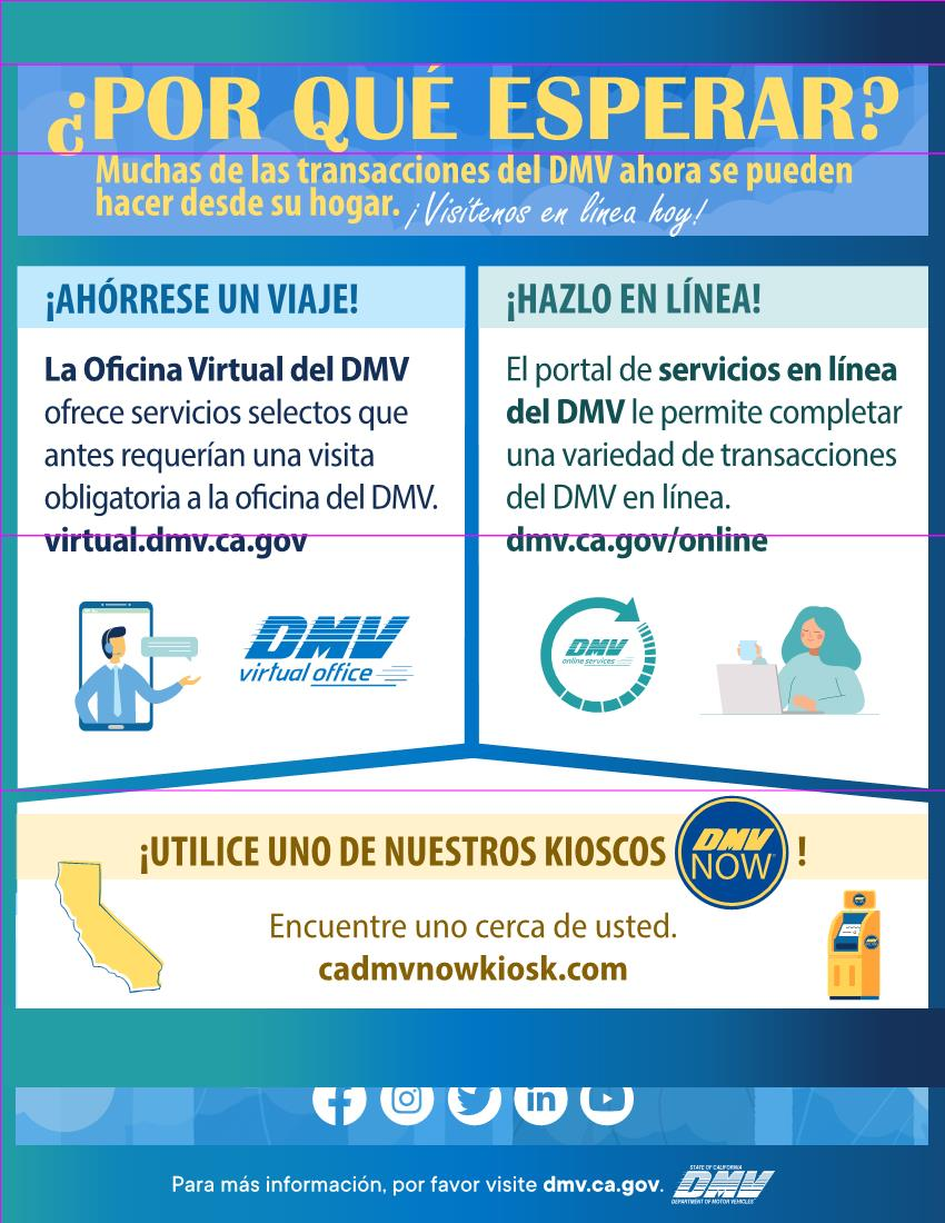 DMV Services SPANISH Flyer 6-18-2020