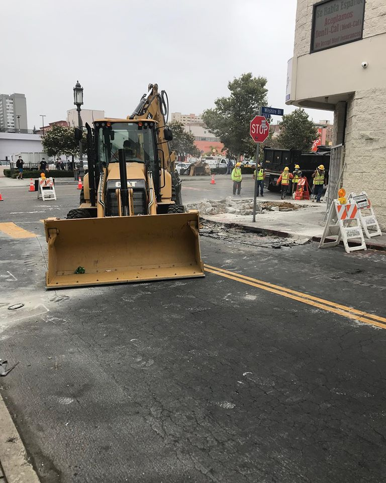 LADOT Safe Routes to School Construction Photo 6-23-2020