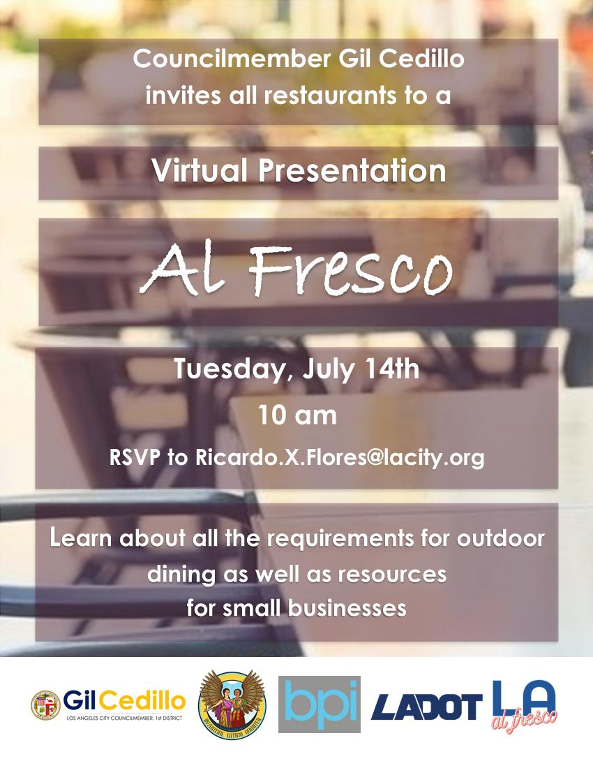 Al Fresco Virtual Presentation Flyer 7-14-2020 English
