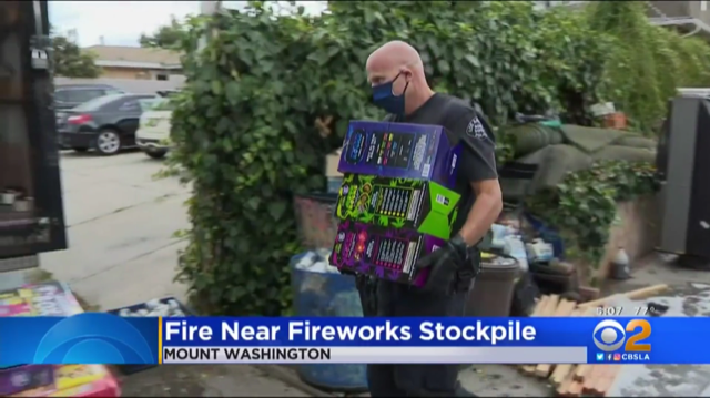 Channel 7 Illegal Fireworks Story Photo 6-28-2020
