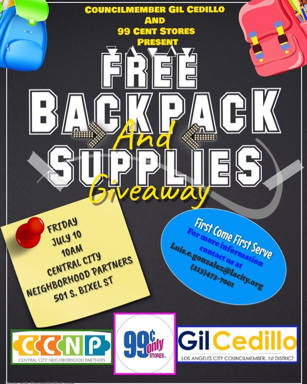 Free Backpack Flyer 7-10-2020 ENGLISH