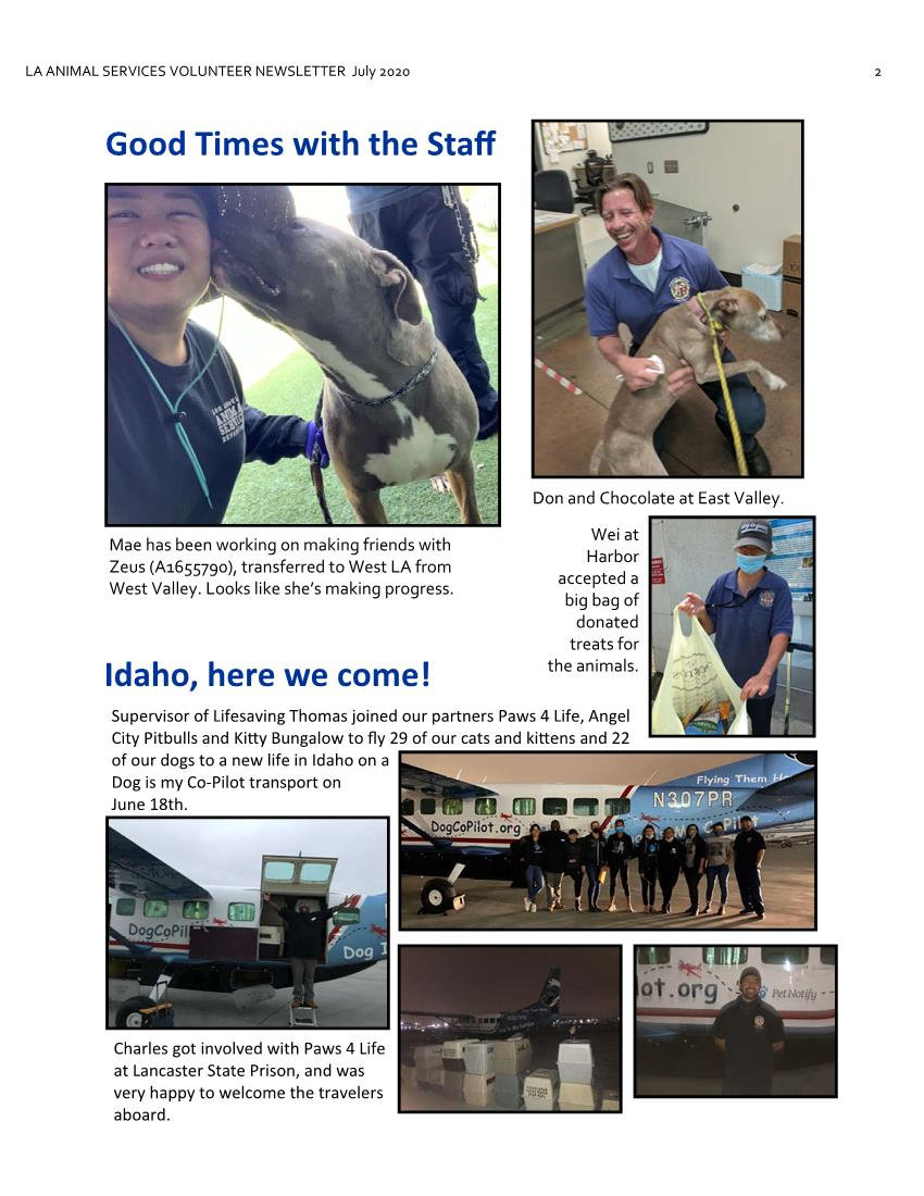 July 2020 LAAS Volunteer Newsletter Page 2
