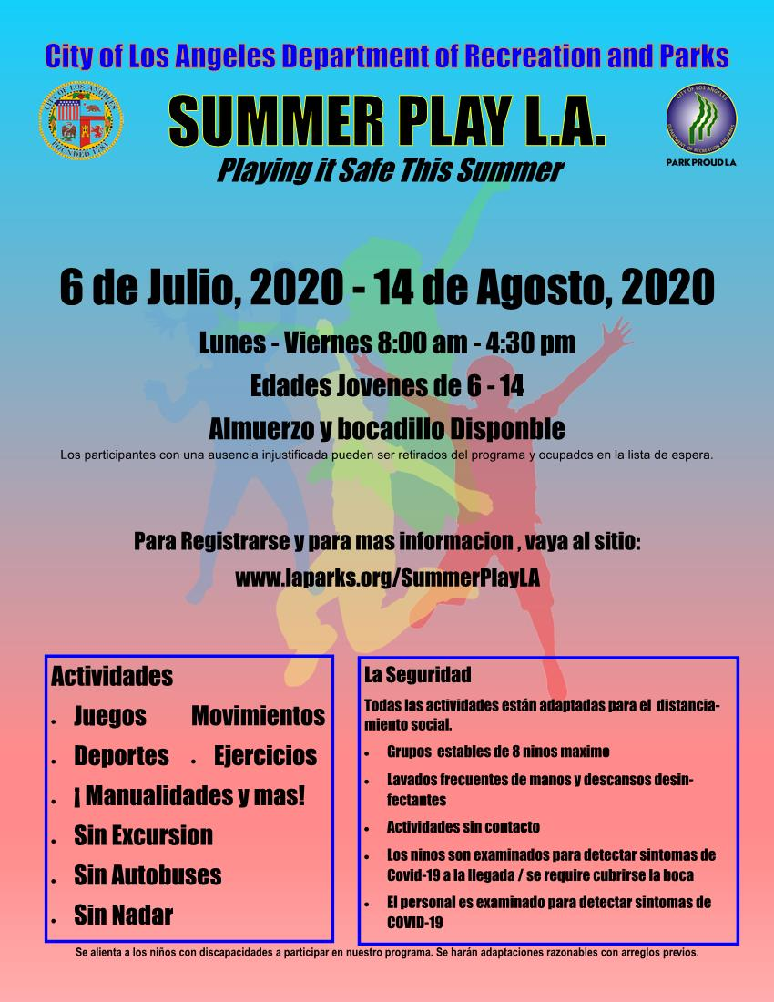 Summer Play LA RAP Spanish 6-30-2020