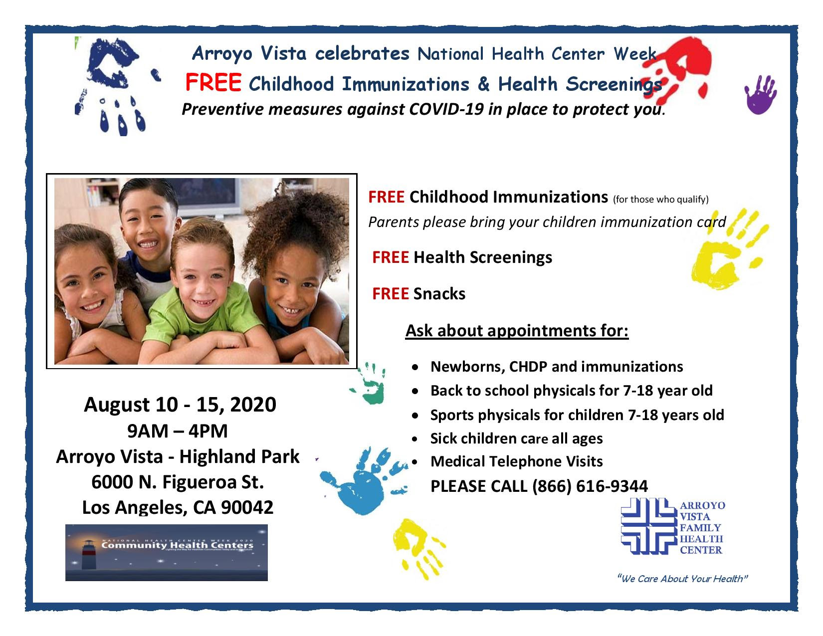 Arroyo Vista Family Health Center Celebrates National Health Center Week 8-10 to 15 ENGLISH