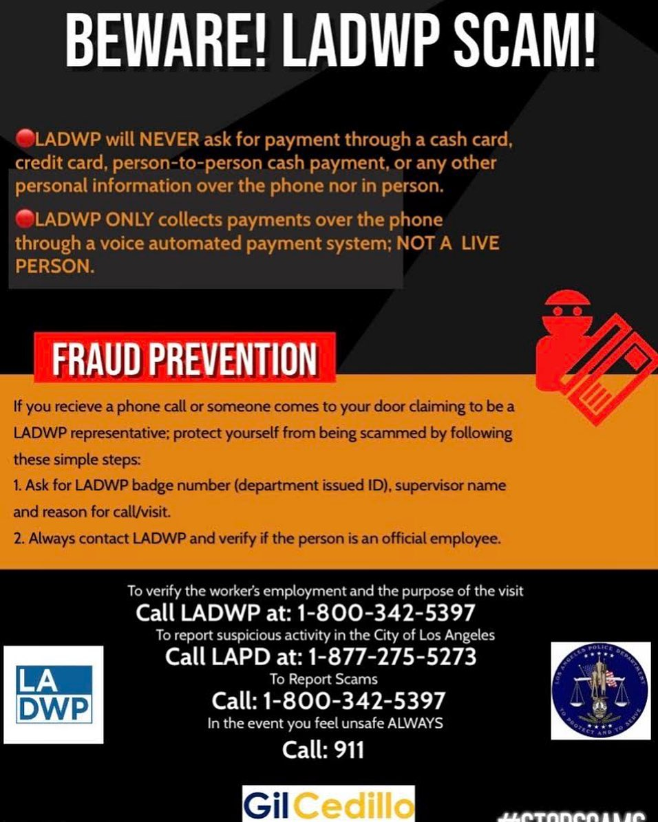 LADWP Scams English