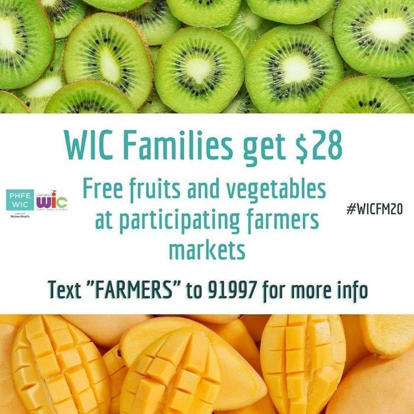 WIC Families get $28 Free Produce at Farmers Markets