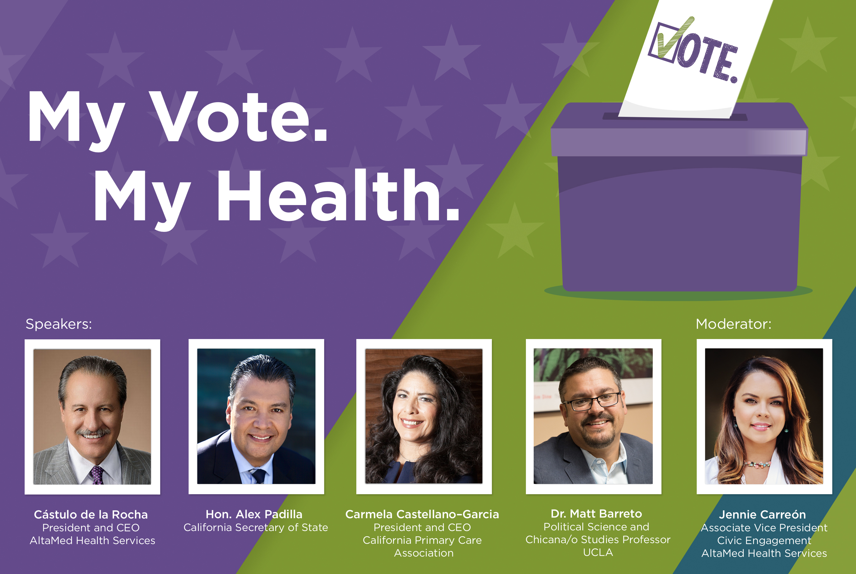 AltaMed Aug 5 My Vote My Health Town Hall