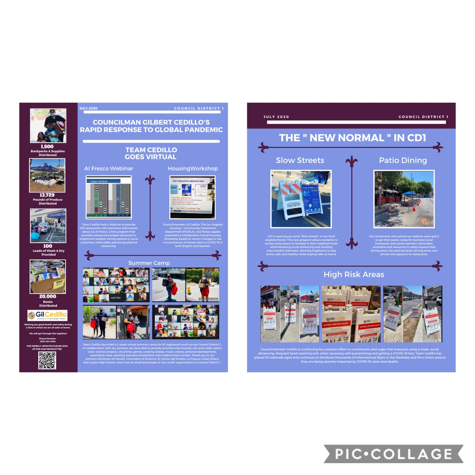 July Rapid Response Flyers ENGLISH Collage 7-28-2020