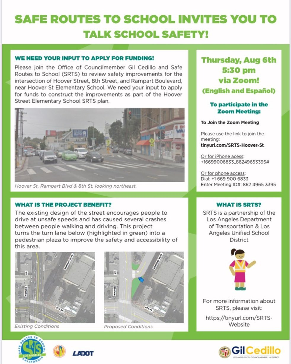 Safe Routes To School Virtual Meeting 8-6-2020