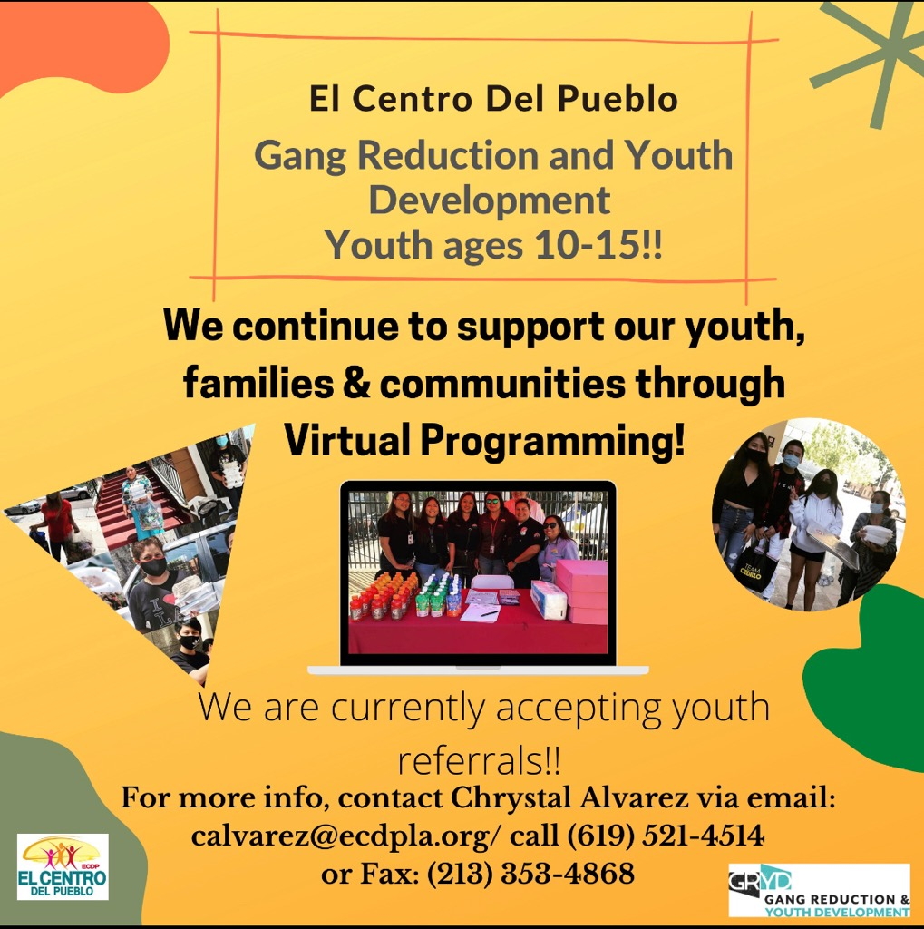 El Centro Del Pueblo GRYD Program South 8-4-2020