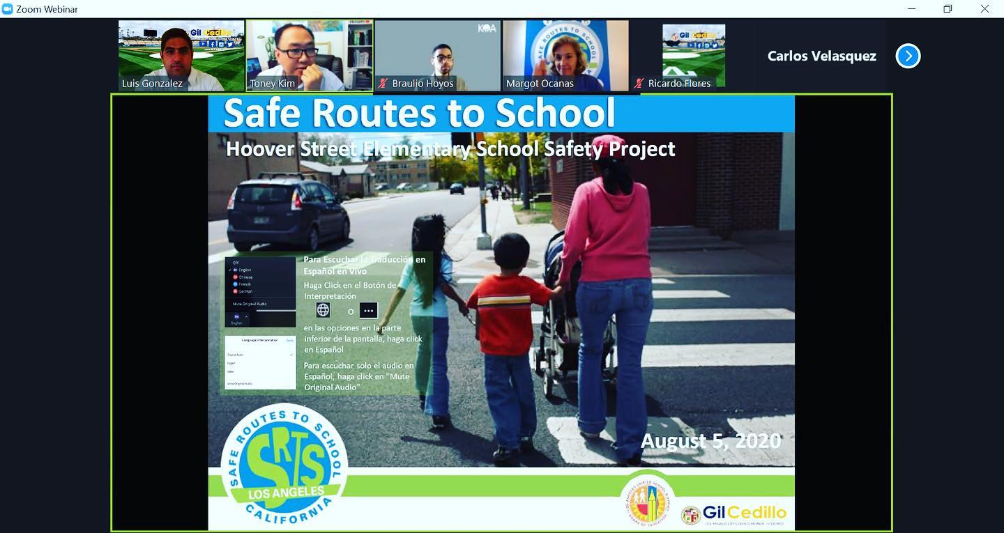 Safe Route To School Virtural Meeting 8-6-2020