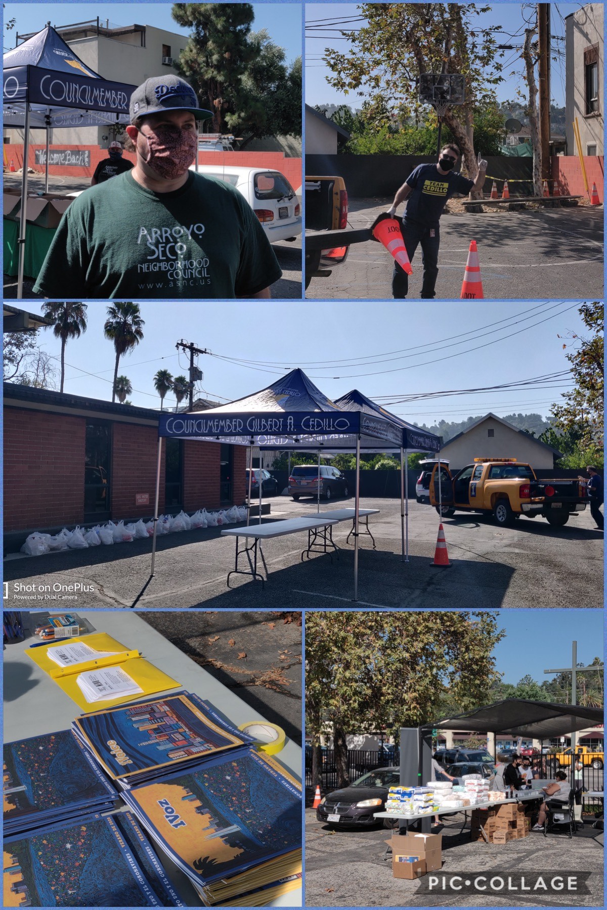 Arroyo Seco NC, Four Square Church and Everytable giveaway of hot meals, groceries, diapers and hand sanitizer 8-14-2020 COLLAGE