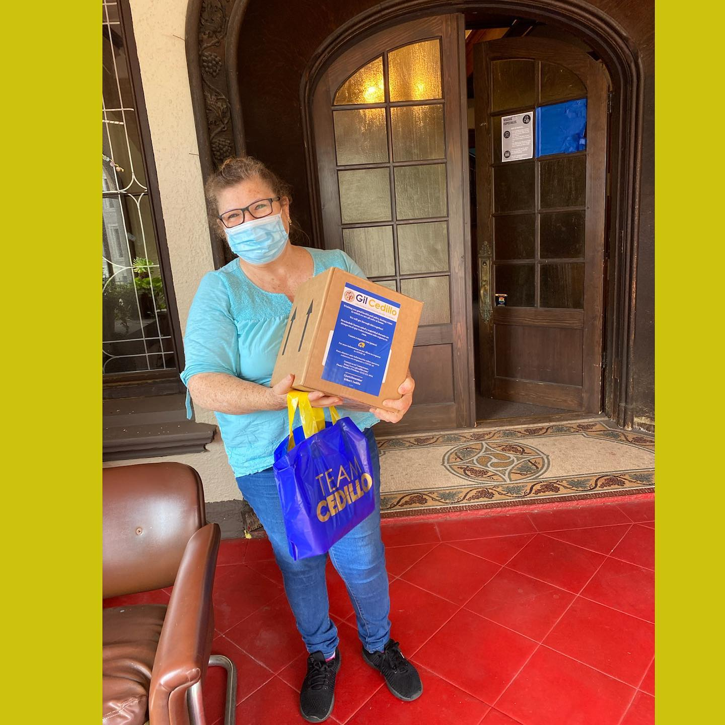Team Cedillo distributed hand sanitizer and masks to residents at Casa Libre in Westlake 8-13-2020 #1