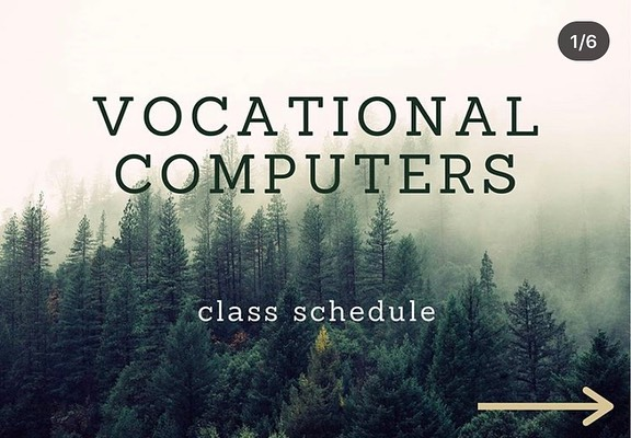 Vocational Classes Page 1