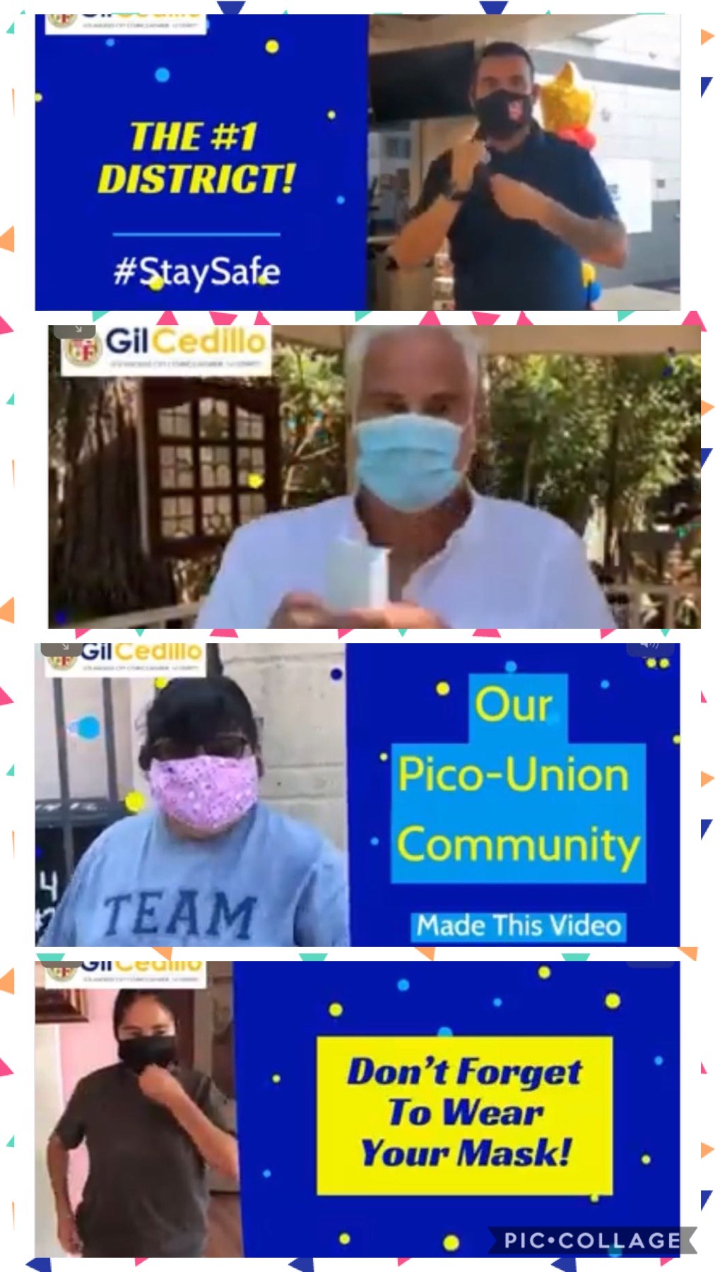 Pico Union Wear a Mask Video Image COLLAGE