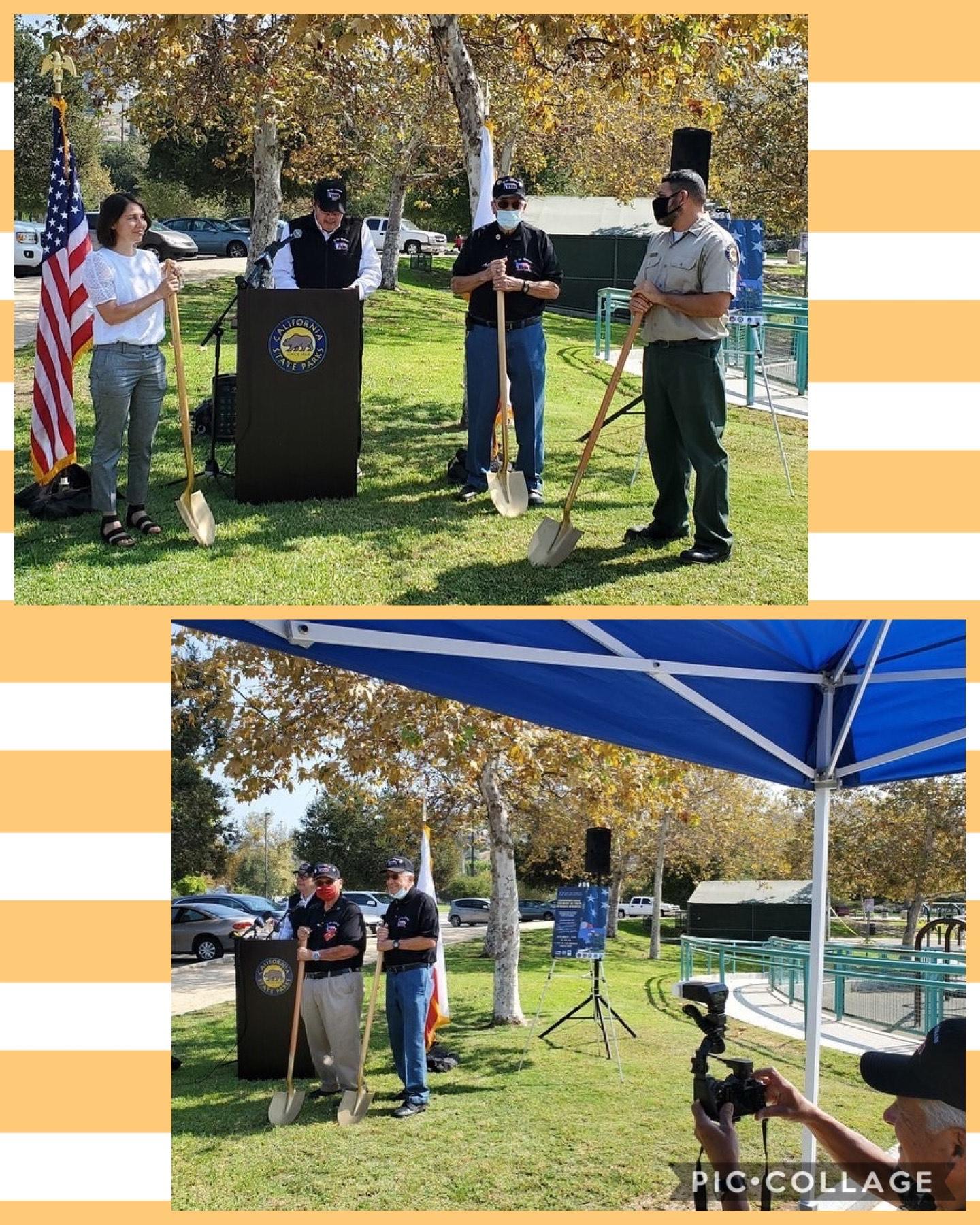 Rio De Los Angeles Veterans Collaborative's Groundbreaking Ceremony 8-31-2020 COLLAGE