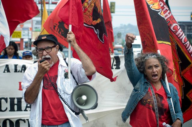 Genaro Ayala, presidente del Partido Nacional de la Raza Unida y quien participó siendo un estudiante en La Opinion 9-2-2020