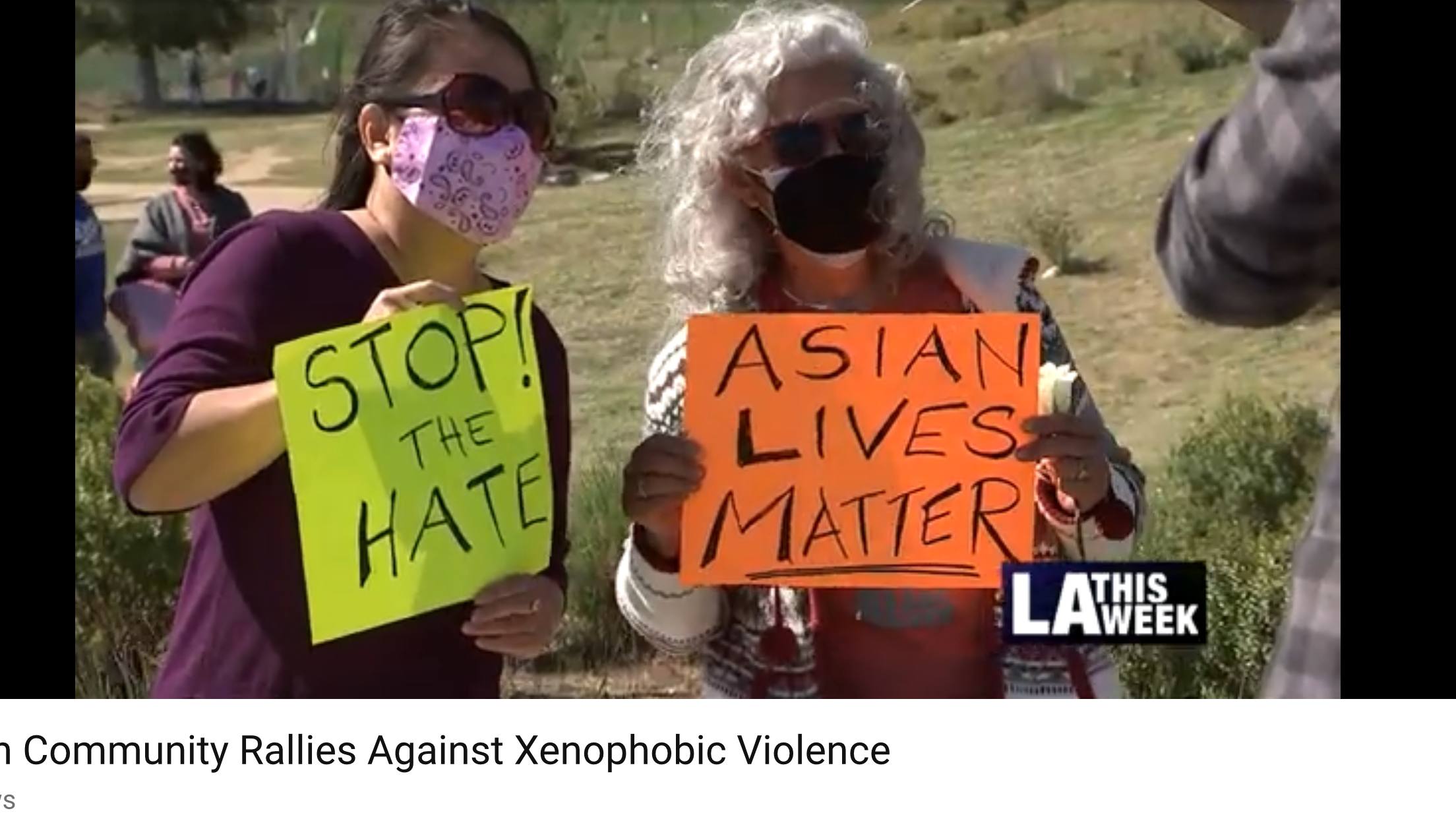 Anti-Asian Hate Demonstration State Park 2-20-2021