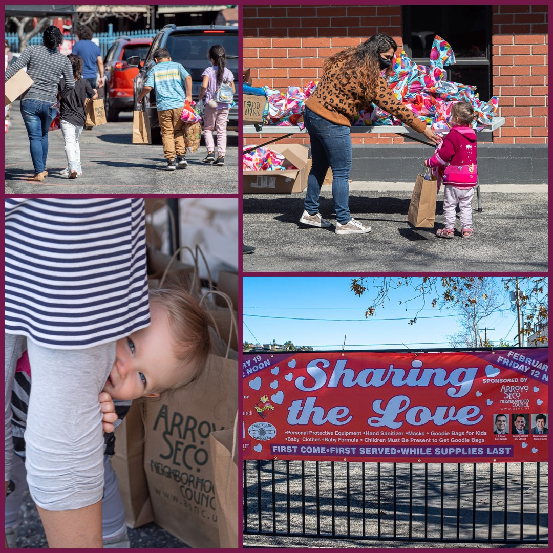 Team Cedillo and ASNC Sharing the Love event last Friday at the Sycamore Grove Foursquare Church 2-23-2021 Photo COLLAGE