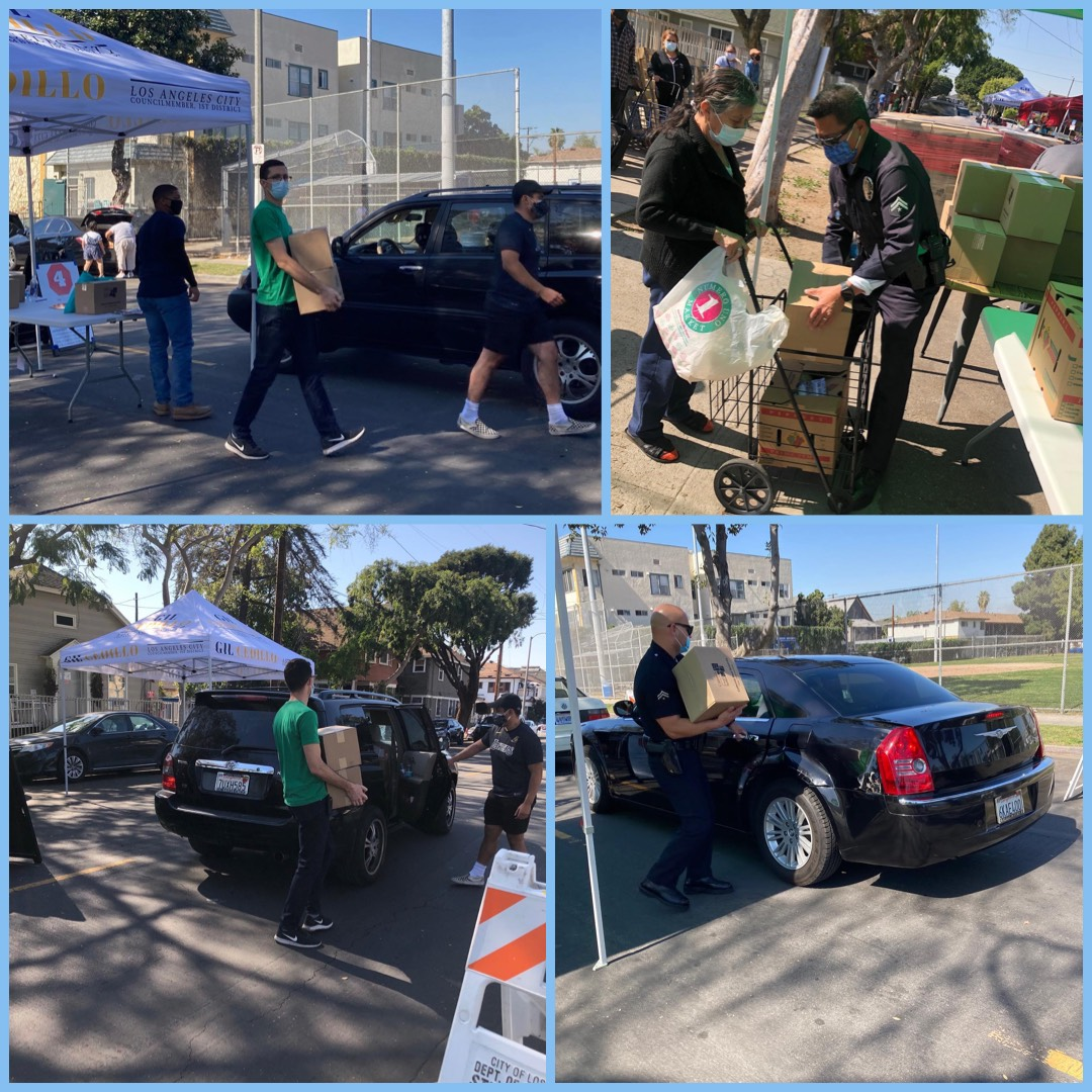 Drive thru distribution being held in Pico Union! Join Team Cedillo and National Health Foundation 2-26-2021 Photo COLLAGE