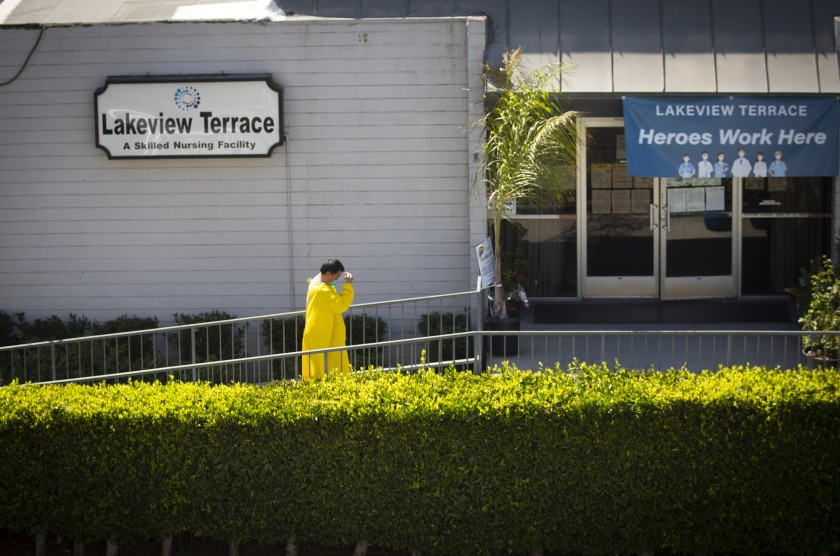 Lakeview Terrace Skilled Nursing Facility Photo Credit Francine Orr - Los Angeles Times