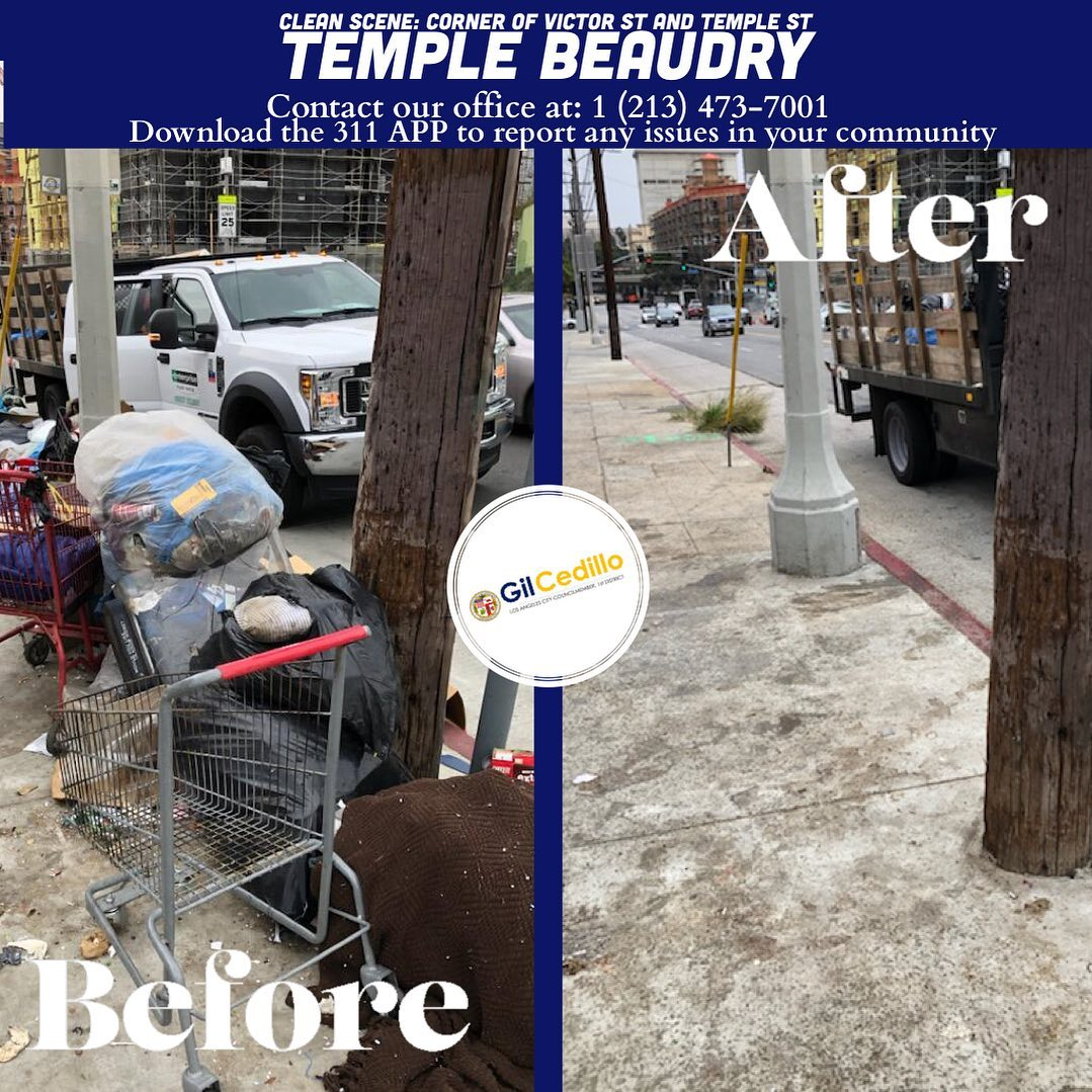 Team Cedillo's Victor St. and Temple St. Temple Beaudry 3-4-2021