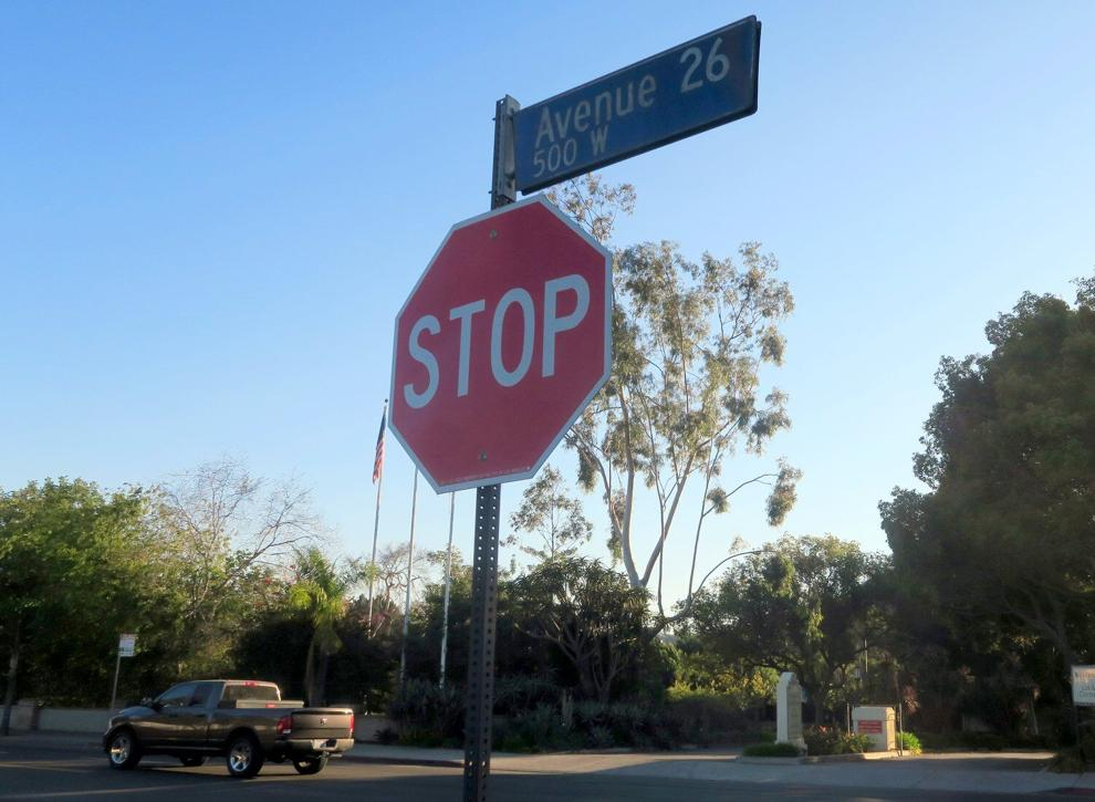 Stop Sign at Jeffries and San Fernando Rd.