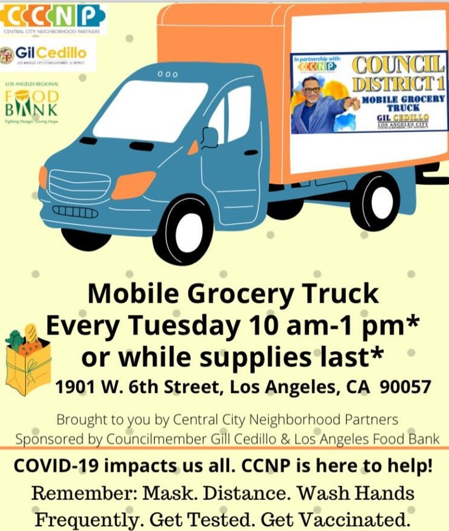 CCNP, LA Food Bank and Councilmember Cedillo Mobile Grocery Truck