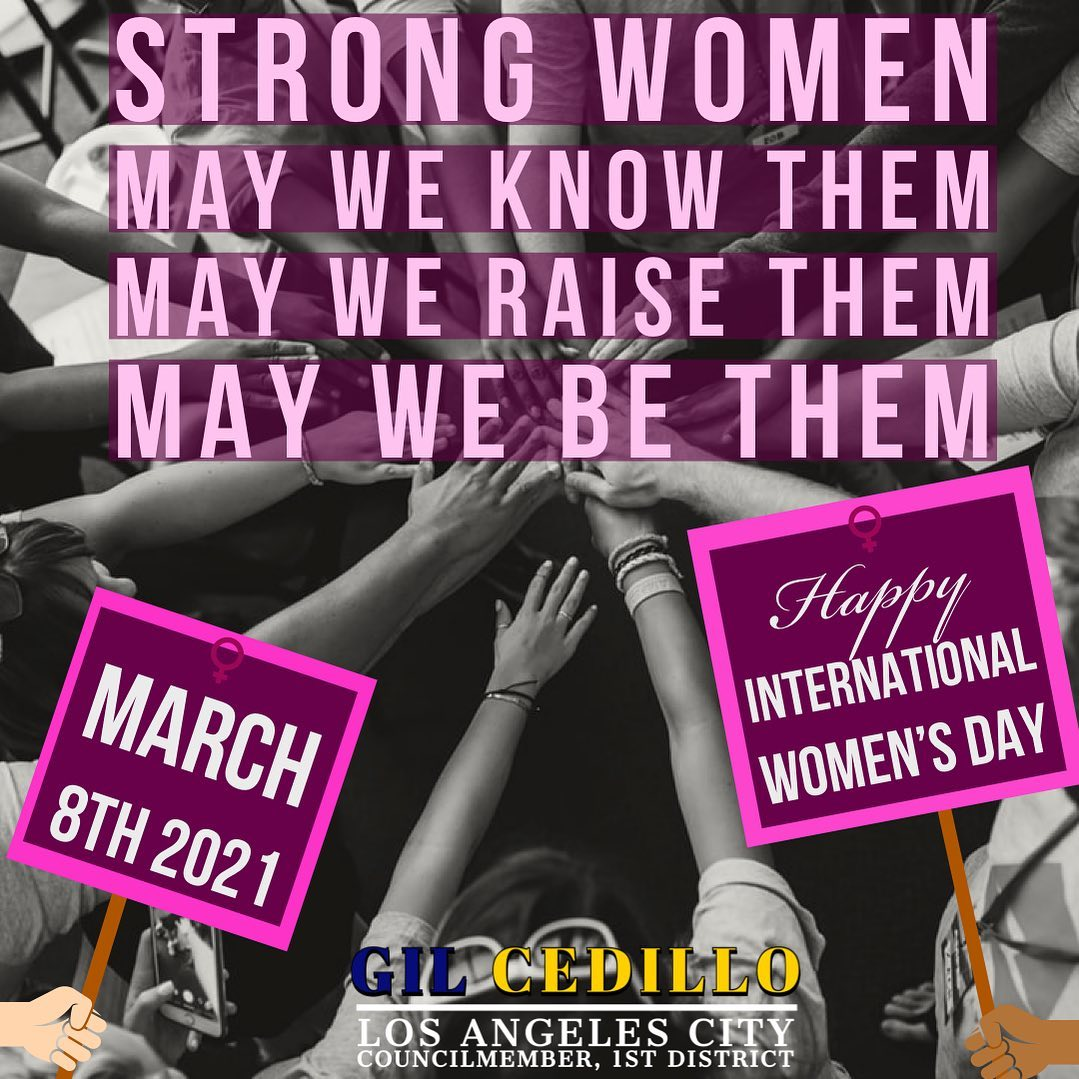 International Women's Day Team Cedillo Flyer 3-8-2021