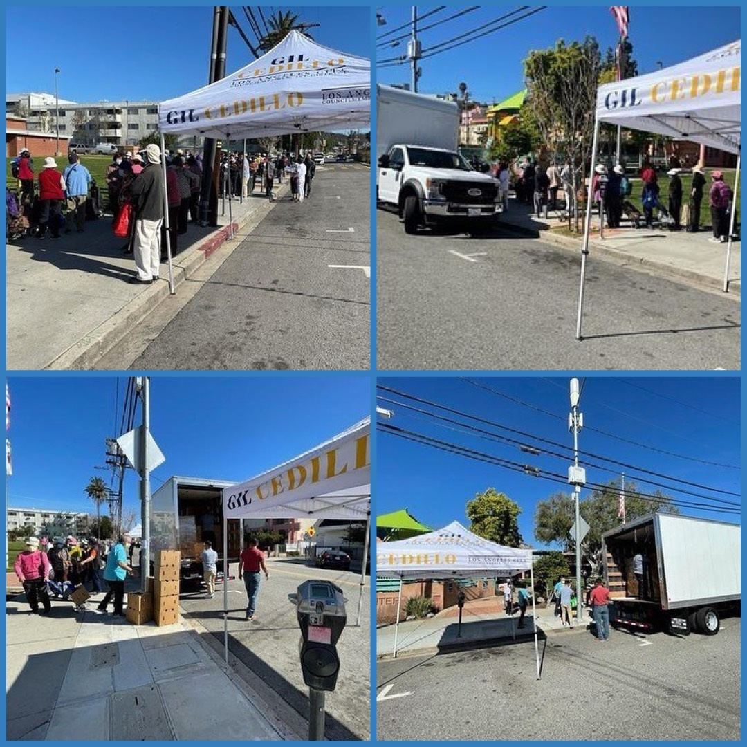 Team Cedillo, CCNP & Chinese Consolidated Benevolent Association, CCBA, hosted food distribution Program in Chinatown 3-5-2021 COLLAGE