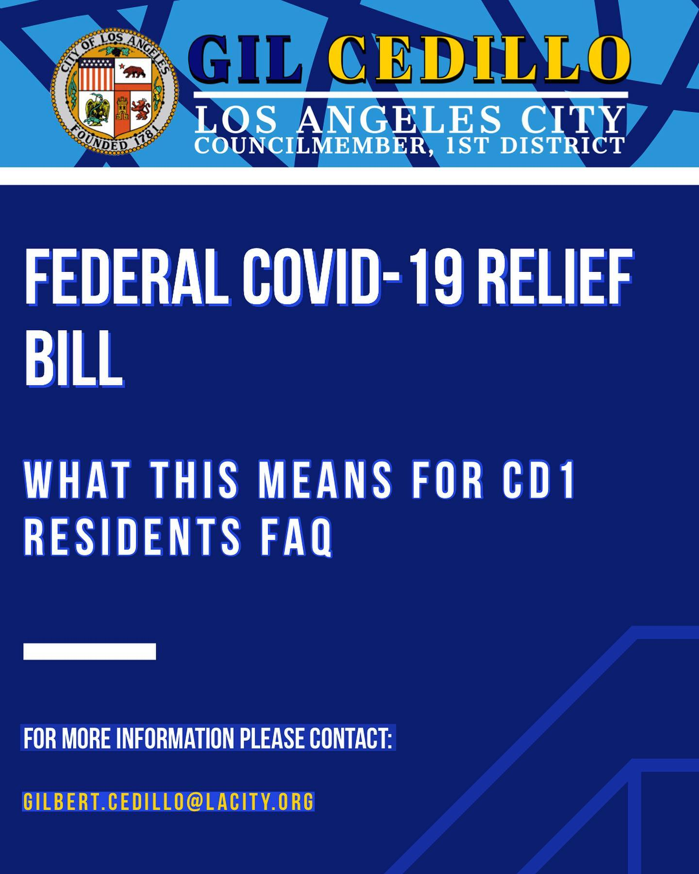 What COVID-19 Relief Bill Means for CD 1 Residents FAQ Page 1