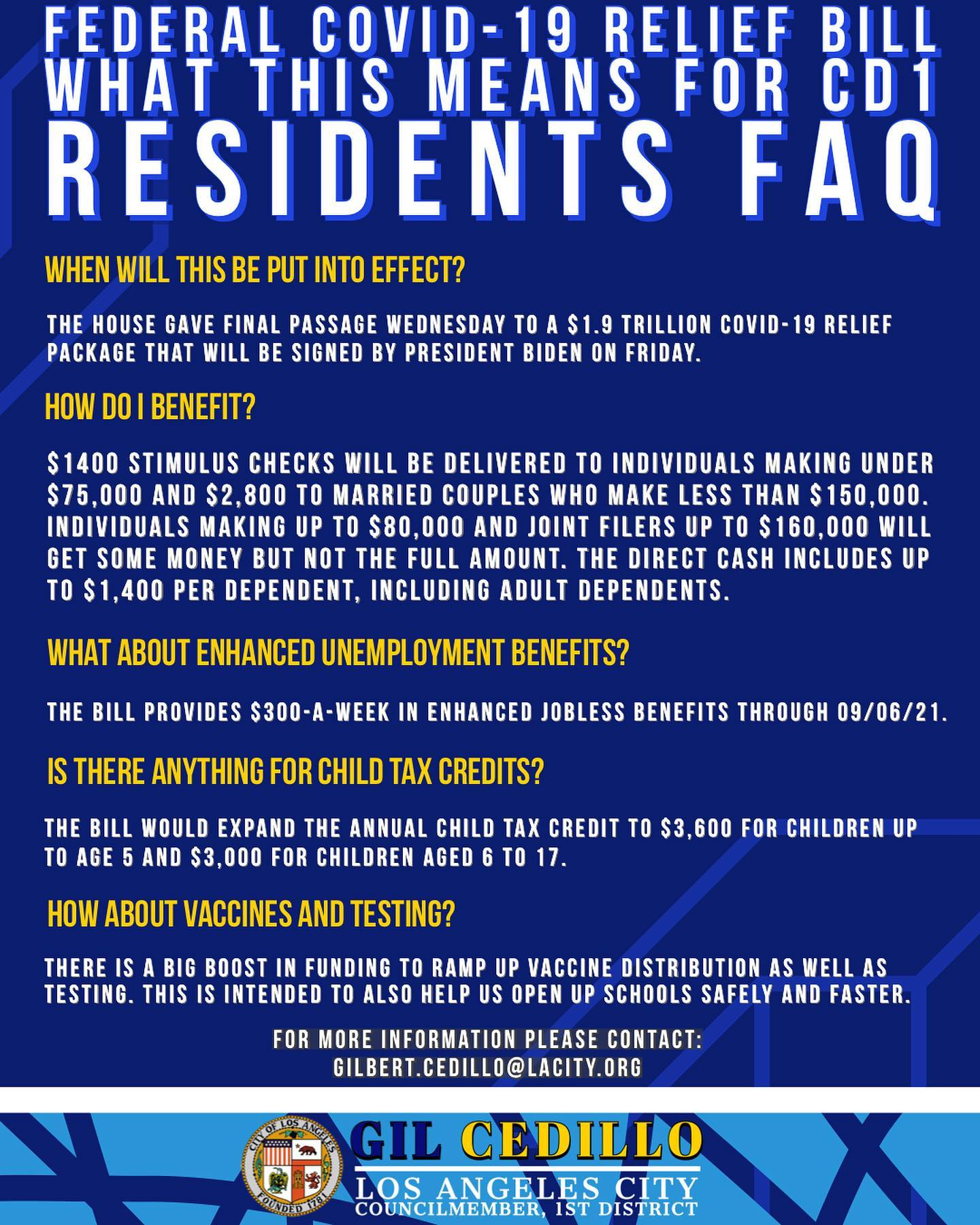 What COVID-19 Relief Bill Means for CD 1 Residents FAQ Page 2