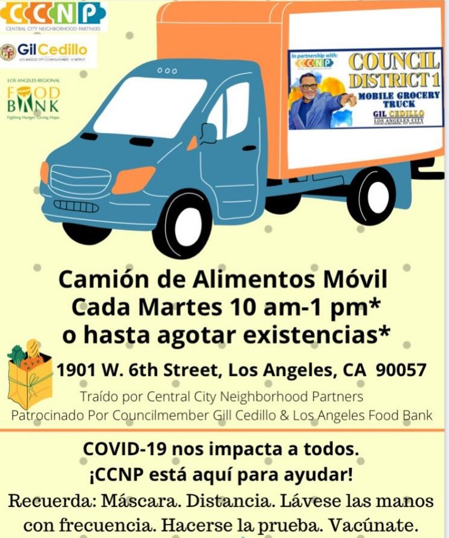 SPANISH CCNP, LA Food Bank and Councilmember Cedillo Mobile Grocery Truck