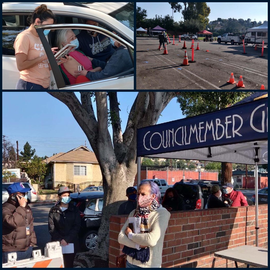 Glassell Park Vaccination Pop-Up 3-13-2021 Photo COLLAGE