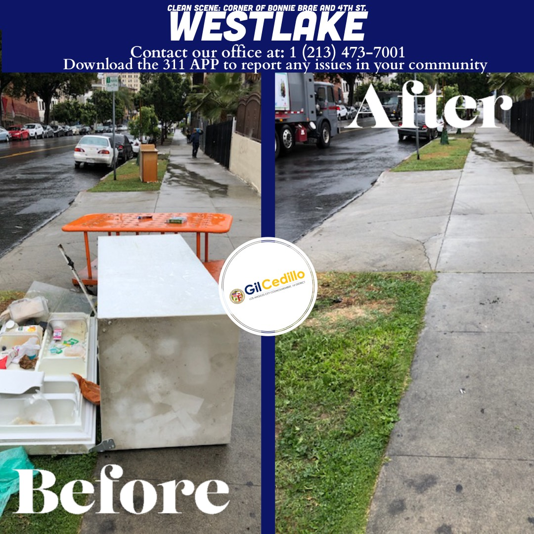 Team Cedillo's Strike Team is in full force today, Corner of Bonnie Brae and 4th St. Westlake 3-16-2021
