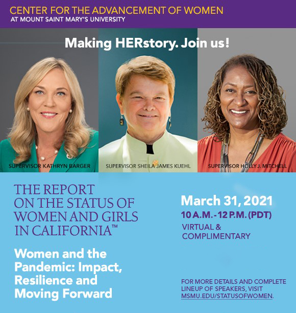 The Report on the Status of Women and Girls in California Virtual Meeting 3-31-2021